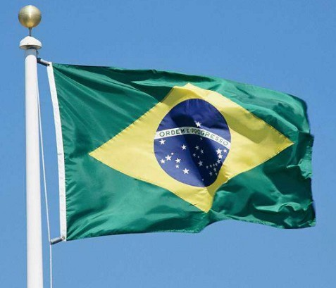 Football Fans Brazil Flag Polyester Country Flag Wholesale