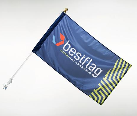 Custom Polyester Wall Mounted Flag Banner For Sale