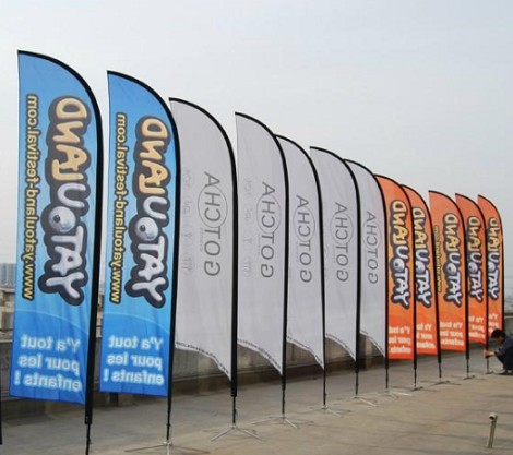 Hot selling advertising custom feather wind flags