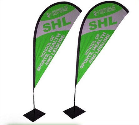 Knitted polyester sail sign flag for advertising
