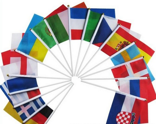 Wholesale small country mini hand fan national flag