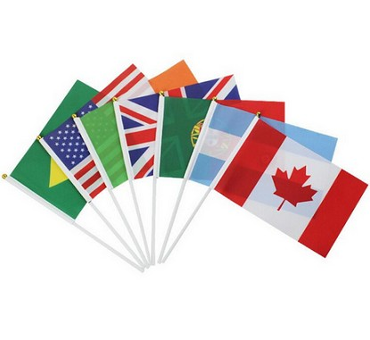 Hot selling world cup hand national stick flag